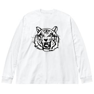 BIG CAT Big silhouette long sleeve T-shirts