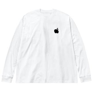 りんご Big silhouette long sleeve T-shirts