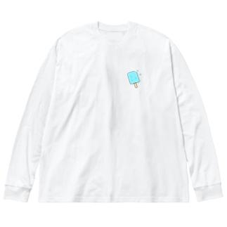ソーダ アイス Big silhouette long sleeve T-shirts