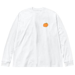 おみかん Big silhouette long sleeve T-shirts