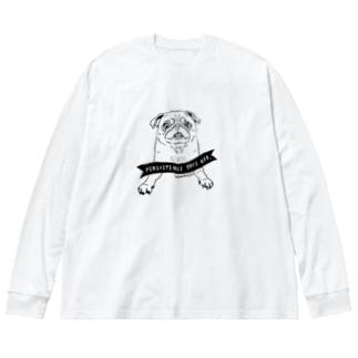ちょうだいちょうだいちょうだーい Big silhouette long sleeve T-shirts