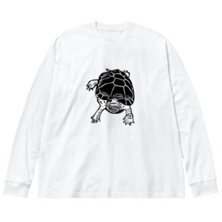 クサガメ Smiley Boggie Big silhouette long sleeve T-shirts