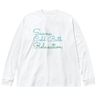 Sauna ColdBath Relaxation  Big silhouette long sleeve T-shirts