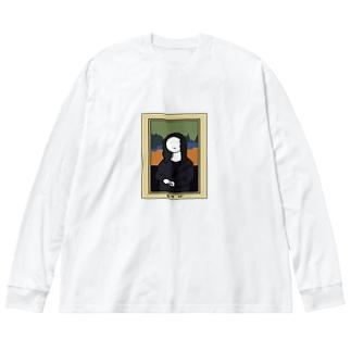 もな・りざ Big silhouette long sleeve T-shirts