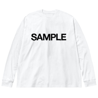 SAMPLE Big silhouette long sleeve T-shirts
