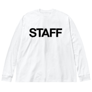 STAFF Big silhouette long sleeve T-shirts