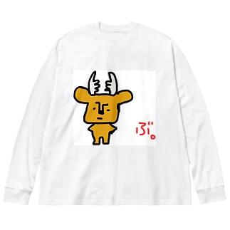 拗らせ鹿BUSHIKA(第1話) Big silhouette long sleeve T-shirts