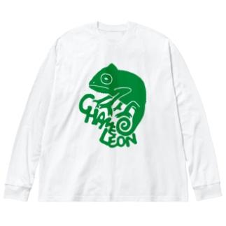 カメレオン Big silhouette long sleeve T-shirts