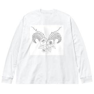 Tsuno Big silhouette long sleeve T-shirts