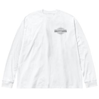 地獄秋田 Big silhouette long sleeve T-shirts