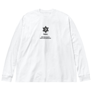 成績優良不健康少年 Big silhouette long sleeve T-shirts