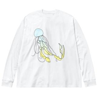 いんどねしあん Big silhouette long sleeve T-shirts