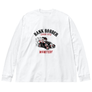 Bank Robber Big silhouette long sleeve T-shirts