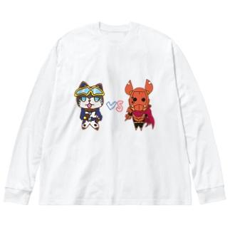 ゆるギャネ&ゆるガメ Big silhouette long sleeve T-shirts