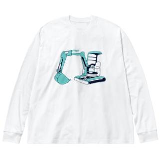 ミニユンボ Big silhouette long sleeve T-shirts