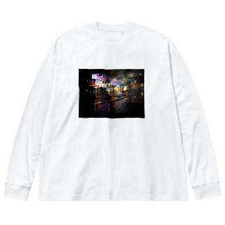 原宿夜10時 Big silhouette long sleeve T-shirts