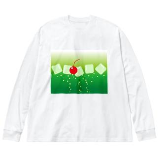 メロンソーダ気分 Big silhouette long sleeve T-shirts