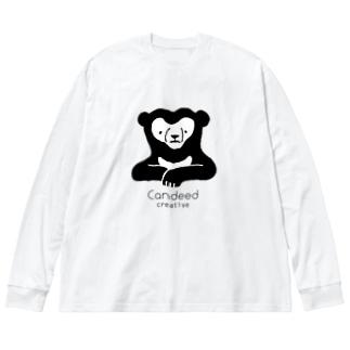 マレーグマ(ロゴあり) Big silhouette long sleeve T-shirts