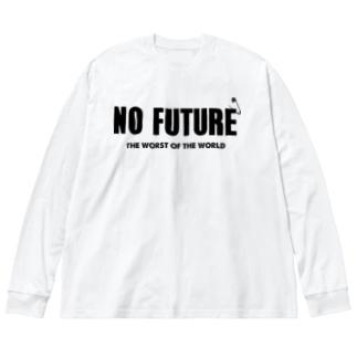 NO FUTURE 2 Big silhouette long sleeve T-shirts