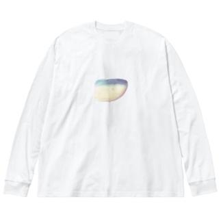 鯖みたいな石 Big silhouette long sleeve T-shirts