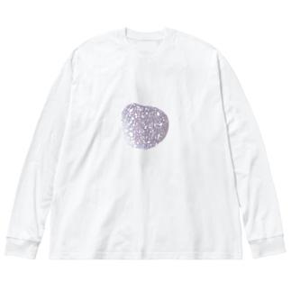 星空みたいな石 Big silhouette long sleeve T-shirts