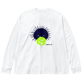 キャベツうに Big silhouette long sleeve T-shirts