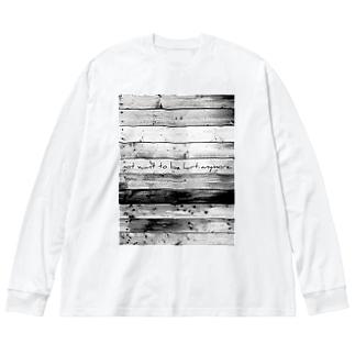 モウキズツキタクナイ。 Big silhouette long sleeve T-shirts