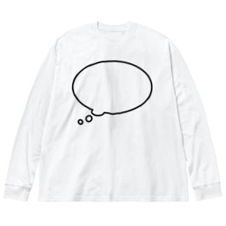 かんがえちゅう Big silhouette long sleeve T-shirts