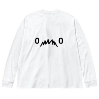 ⁰෴⁰ Big silhouette long sleeve T-shirts