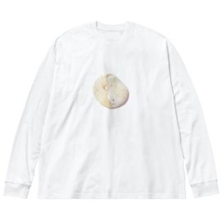 ミントチョコみたいな石 Big silhouette long sleeve T-shirts