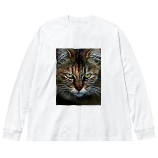 CAT Big silhouette long sleeve T-shirts