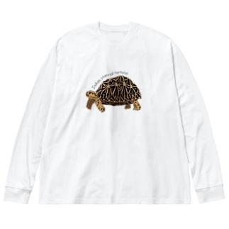 はやしりえのインドホシガメさん Big Silhouette Long Sleeve T-Shirt