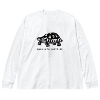 はやしりえのソリガメさん Big Silhouette Long Sleeve T-Shirt