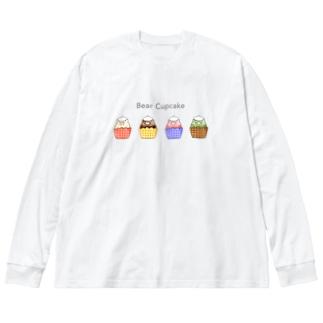 Bear Cupcake Big silhouette long sleeve T-shirts