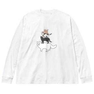 フレーメンの音楽隊 Big silhouette long sleeve T-shirts