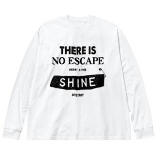 THERE IS NO ESCAPE Big silhouette long sleeve T-shirts