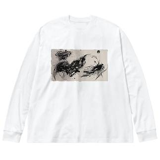 CTRL shopのsuiboku Big silhouette long sleeve T-shirts