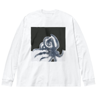 octopus Big silhouette long sleeve T-shirts