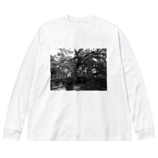 CTRL shopの今回混雑膨らむ This time the crowd swells Big silhouette long sleeve T-shirts