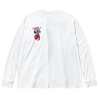 フシギくん。 リメイク Big silhouette long sleeve T-shirts