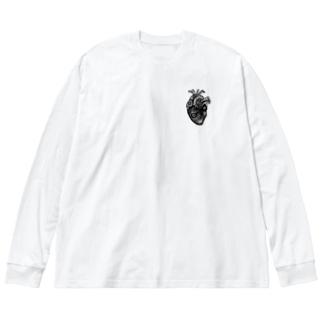 深臓 Big silhouette long sleeve T-shirts