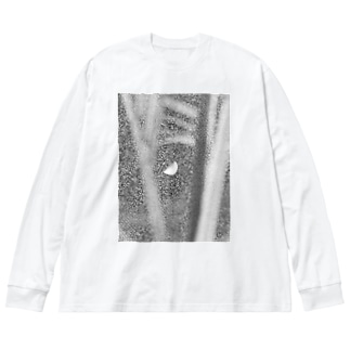 moon Big silhouette long sleeve T-shirts