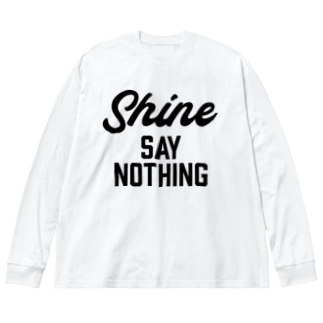 SAY NOTHING Big silhouette long sleeve T-shirts