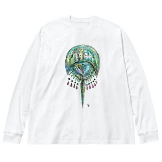 カブトガニ Big silhouette long sleeve T-shirts