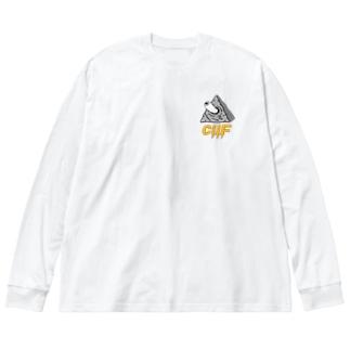 ✖️cilF  シンボル Big silhouette long sleeve T-shirts