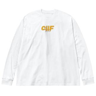 ✖️cilF  Big silhouette long sleeve T-shirts
