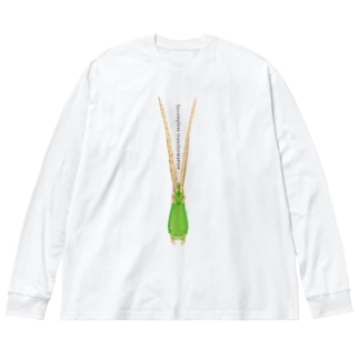 不完全変態 Big silhouette long sleeve T-shirts