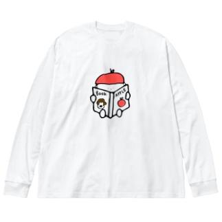 りんごぼうや Big silhouette long sleeve T-shirts