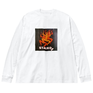 レトロニッポん Big silhouette long sleeve T-shirts
