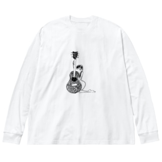 くびれ Big silhouette long sleeve T-shirts